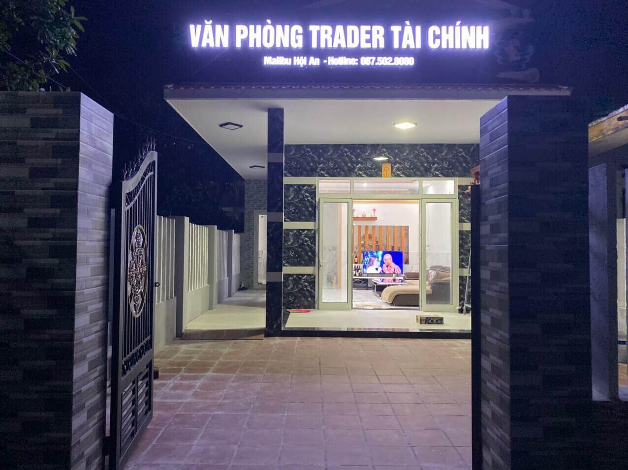 Bảng hiệu mica sáng đèn văn phòng giao dịch tài chính malibu Hội An