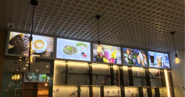 Hộp đèn quảng cáo siêu mỏng cafe