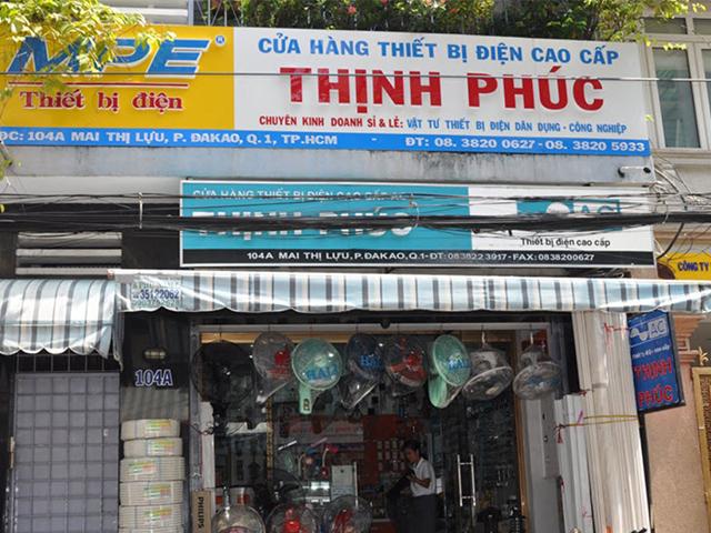 bảng hiệu cửa hàng điện nước