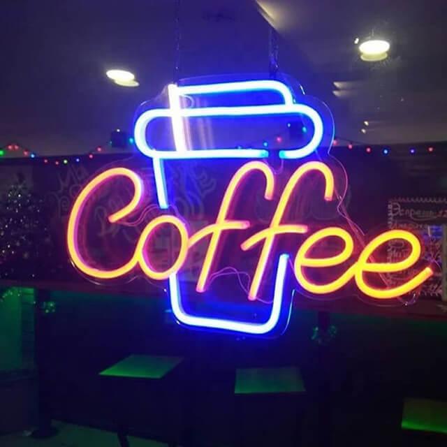 Bảng hiệu đèn led cafe