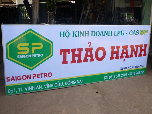 bảng hiệu hiflex cơ sở Thảo Hạnh đại lý SaiGon Petro tại Đồng Nai